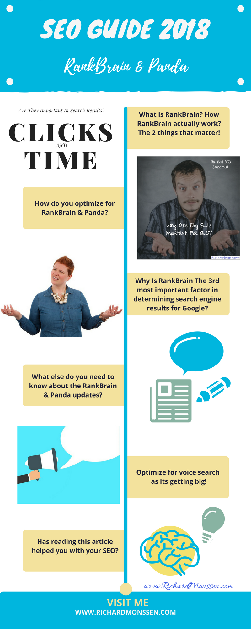 SEO Guide 2018 - RankBrain And Panda Infographic